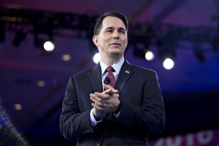 Scott Walker speaks during the American Conservative Unions Conservative Political Action Conference (CPAC) meeting in National Harbor, Md., March 3, 2016. (Photo by Andrew Harrer/Bloomberg/Getty)