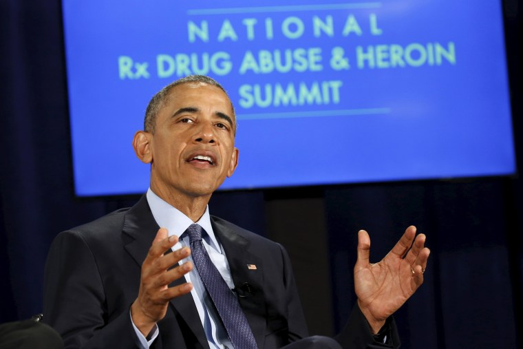 President Barack Obama participates in a National Rx Drug Abuse and Heroin Summit in Atlanta, Ga., March 29, 2016. (Photo by Kevin Lamarque/Reuters)