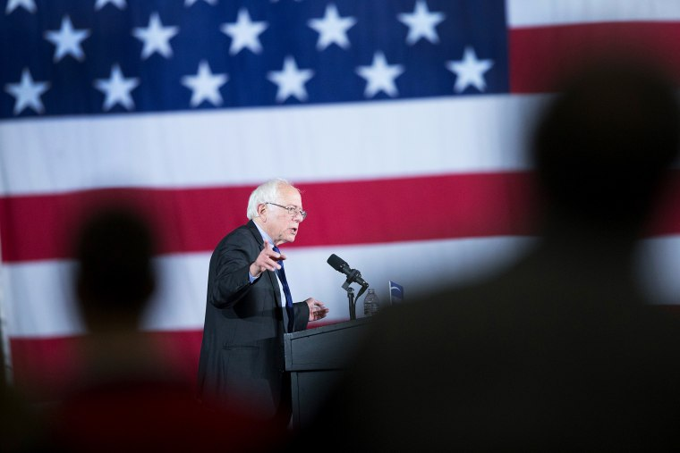 Democratic presidential candidate Senator Bernie Sanders (D-VT) speaks at a campaign rally at the Alliant Energy Center on March 26, 2016 in Madison, Wis. (Photo by Scott Olson/Getty)