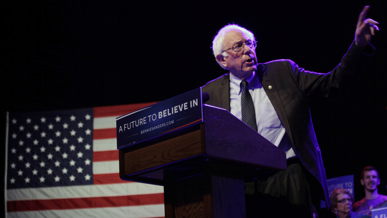Democratic Presidential candidate Senator Bernie Sanders (I-Vt) speaks at a event March 30, 2016 in Madison, Wis. (Photo by Darren Hauck/Getty)
