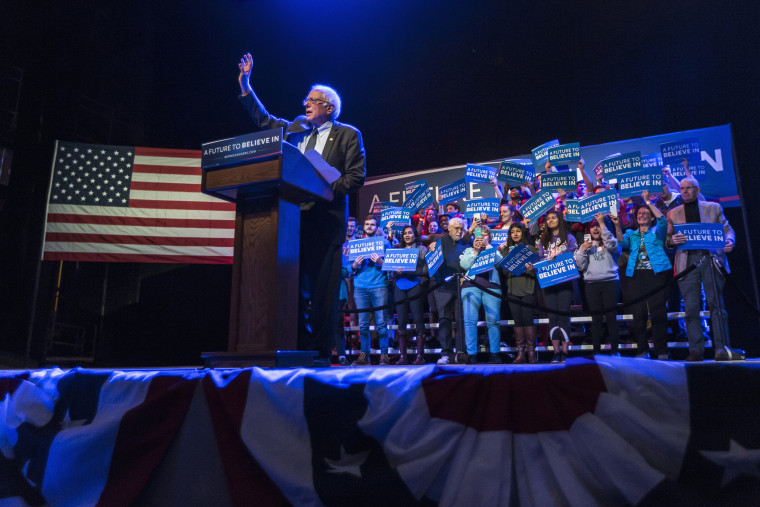 Democratic presidential candidate, Sen. Bernie Sanders, I-Vt. speaks at a campaign stop, March 30, 2016, in Madison, Wis. (Photo by Andy Manis/AP)