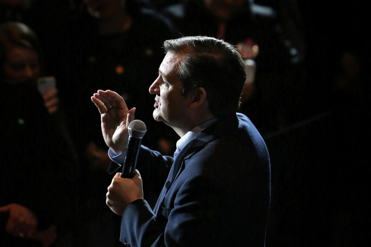 Republican Presidential candidate U.S. Senator Ted Cruz makes a stop at the Armory restaurant in downtown Janesville, Wis., on March 24, 2016. (Photo by Anthony Wahl/The Janesville Gazette/AP)
