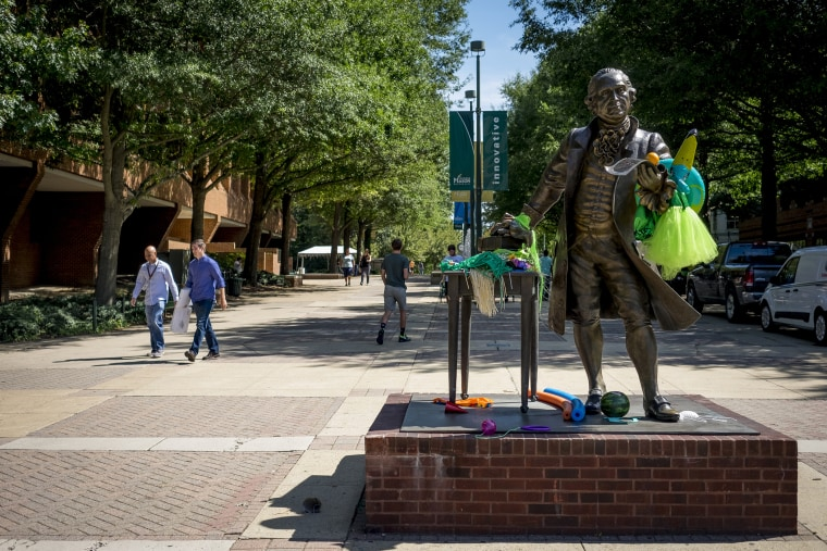 GMU PresThe statue of George Mason at George Mason University, Aug. 27, 2015 in Fairfax, Va. (Photo by Pete Marovich For The Washington Post/Getty)