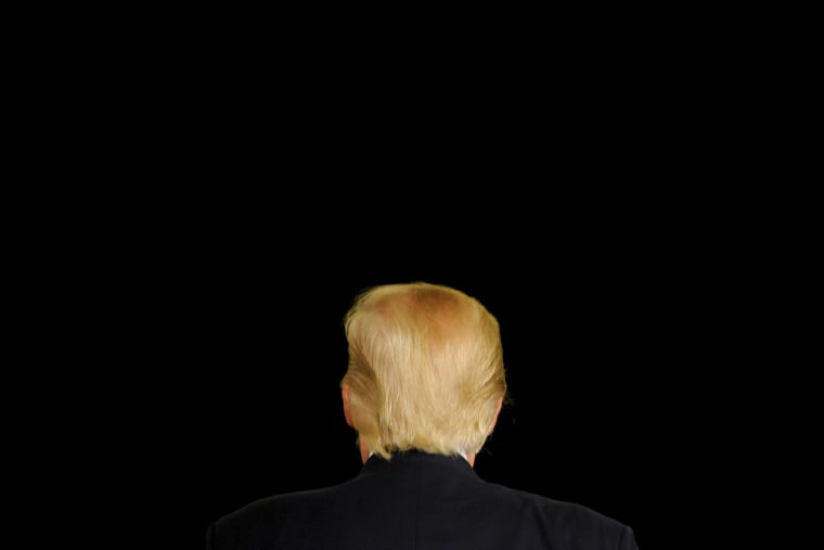 Republican U.S. presidential candidate Donald Trump turns away from the cameras as he speaks at a town hall event in Appleton, Wis., March 30, 2016. (Photo by Mark Kauzlarich/Reuters)