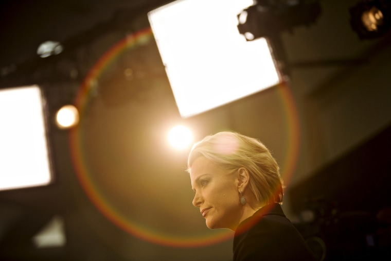 Fox News anchor Megyn Kelly pauses during a live broadcast following the Republican presidential candidate debate in Des Moines, Ia., Jan. 28, 2016. (Photo by Daniel Acker/Bloomberg/Getty)