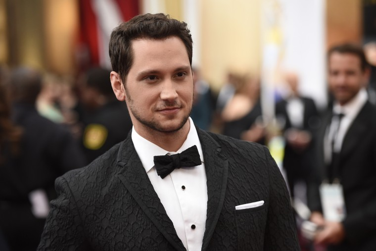 Matt McGorry arrives at the Oscars on Sunday, Feb. 22, 2015, at the Dolby Theatre in Los Angeles, Calif. (Photo by Chris Pizzello/Invision/AP)