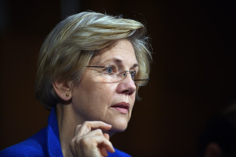 Sen. Elizabeth Warren listens during a hearing of the Senate Health, Education, Labor, and Pensions Committee on July 29, 2015 in Washington, DC. (Photo by Astrid Riecken/Getty)