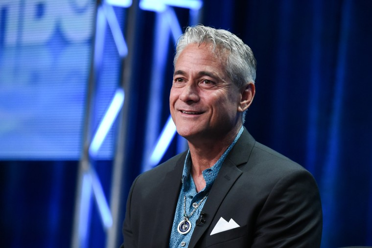 Greg Louganis speaks onstage during a panel at the HBO 2015 Summer TCA Tour held at the Beverly Hilton Hotel on July 30, 2015, in Beverly Hills, Calif. (Photo by Richard Shotwell/Invision/AP)