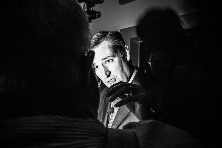 Sen. Ted Cruz holds a rally in Charleston, S.C., Feb. 19, 2016.  (Photo by Mark Peterson/Redux for MSNBC)