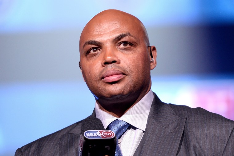 Basketball player Charles Barkley speaks onstage during an event on Feb. 12, 2015 in New York, N.Y. (Photo by Stephen Lovekin/Getty for American Express)