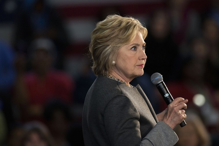 Hillary Clinton, former Secretary of State and 2016 Democratic presidential candidate, pauses while speaking during an event at Medgar Evers College in Brooklyn, New York, April 5, 2016. (Photo by Victor J. Blue/Bloomberg/Getty)
