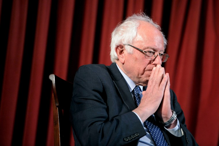 Democratic U.S. presidential candidate Bernie Sanders listens to the first question at an African American Community Conversation town hall event in Philadelphia, Penn., April 6, 2016. (Photo by Mark Kauzlarich/Reuters)