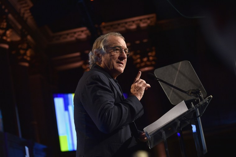 Robert De Niro speaks onstage during an event on Nov. 30, 2015 in New York, N.Y. (Photo by Larry Busacca/Getty for IFP)