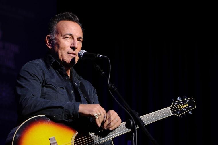 Musician Bruce Springsteen performs on stage on Nov. 10, 2015 in New York City. (Photo by Ilya S. Savenok/Getty)