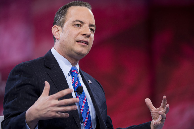 Reince Priebus, chairman of the Republican National Committee, speaks at the American Conservative Union's CPAC conference at National Harbor in Oxon Hill, Md., March 4, 2016. (Photo By Bill Clark/CQ Roll Call/AP)