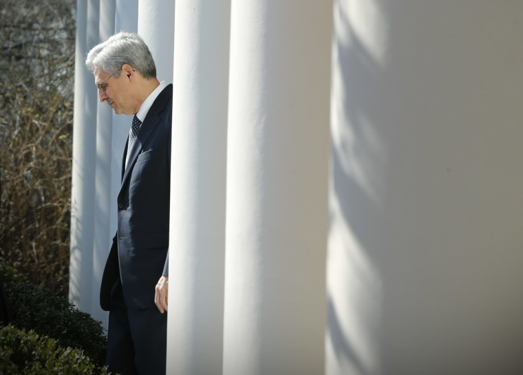 Judge Merrick Garland arrives prior to U.S. President Barack Obama announcing Garland as his nominee to the U.S. Supreme Court, at the White House in Washington, March 16, 2016. (Photo by Jonathan Ernst/Reuters)