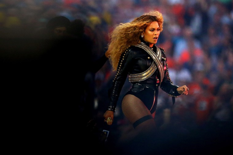 Beyonce performs during the Pepsi Super Bowl 50 Halftime Show at Levi's Stadium on Feb. 7, 2016 in Santa Clara, Calif. (Photo by Ronald Martinez/Getty)