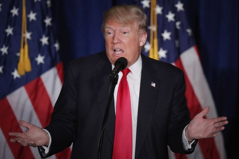 Republican presidential candidate Donald Trump delivers a speech about his vision for foreign policy at the Mayflower Hotel April 27, 2016 in Washington, DC. (Photo by Chip Somodevilla/Getty)