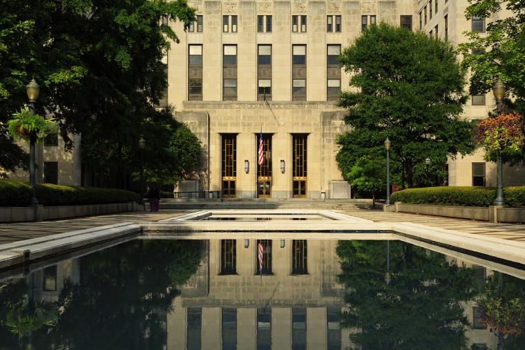 Jefferson County Courthouse in Linn Park, Birmingham, Ala., in 2012. (Photo by Richard Cummins/Corbis)