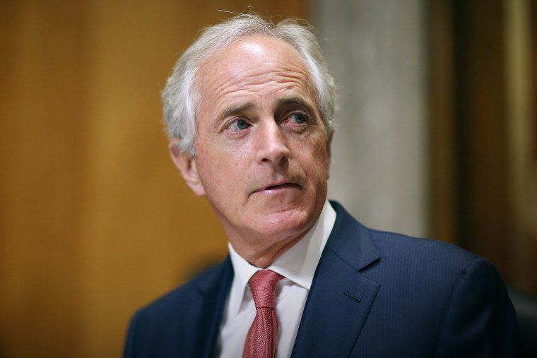 Senate Foreign Relations Committee Chairman Bob Corker (R-TN) delivers opening remarks at the start of a hearing in the Dirksen Senate Office building on Capitol Hill, Oct. 20, 2015 in Washington, DC. (Photo by Chip Somodevilla/Getty)