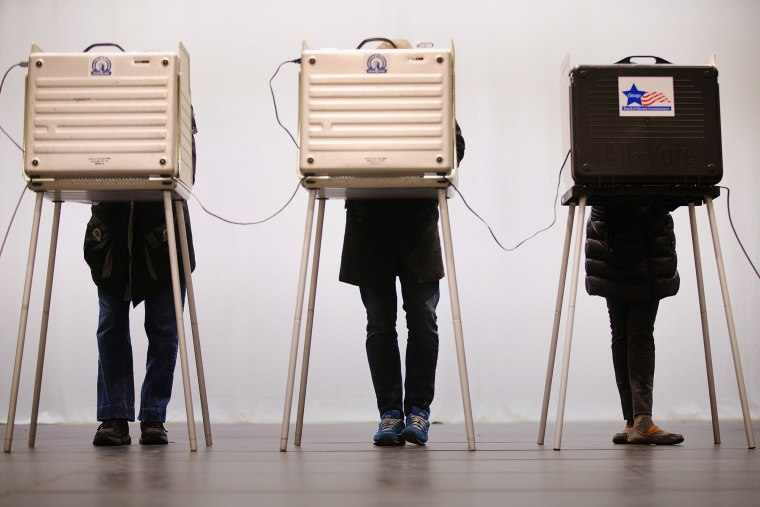 Voters casts their ballots at ChiArts High School on March 15, 2016 in Chicago, Ill. (Photo by Scott Olson/Getty)