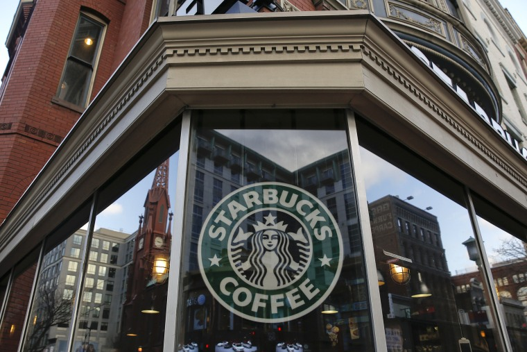 An exterior view of a Starbucks. (Photo by Drew Angerer/Getty)