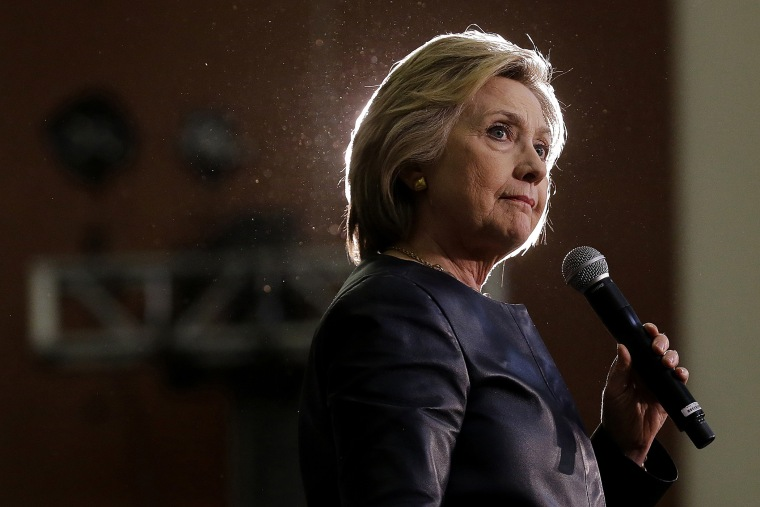 Democratic presidential candidate Hillary Clinton speaks at a rally at La Escuelita School in Oakland, Calif., May 6, 2016. (Photo by Jeff Chiu/AP)