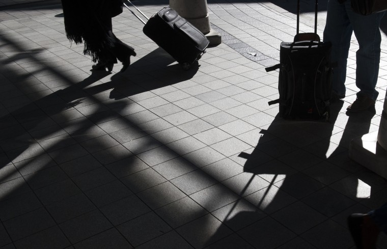 Those arriving at BWI for Southwest and Delta Airlines have their checked bags go through a labyrinth of conveyor belts as they are inspected for explosives, Nov. 10, 2014 in Lithicum, Md. (Photo by Katherine Frey/The Washington Post/Getty)