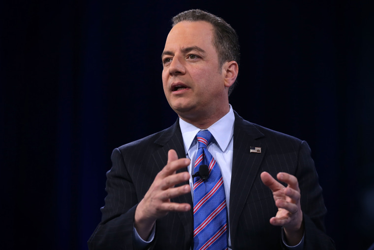 Chairman of the Republican National Committee Reince Priebus participates in a discussion during CPAC 2016 March 4, 2016 in National Harbor, Md. (Photo by Alex Wong/Getty)