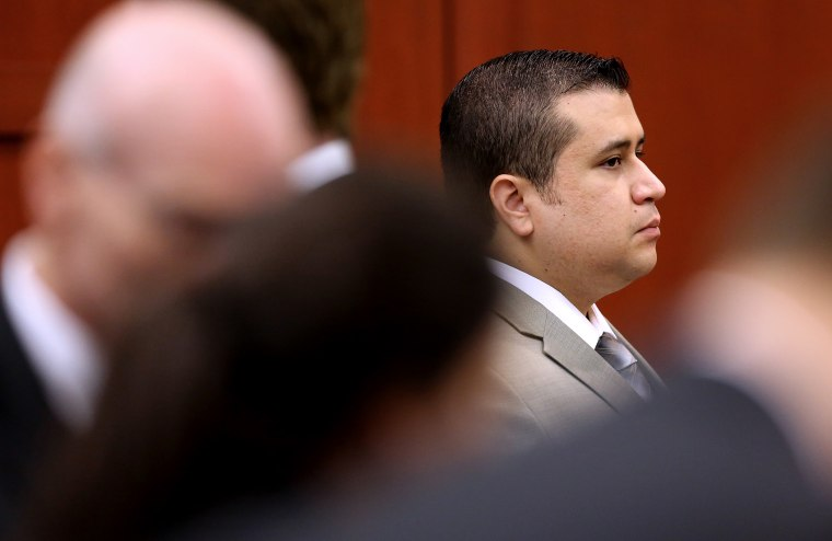 George Zimmerman during the 21st day of his trial in Seminole circuit court, July 9, 2013 in Sanford, Fl. (Photo by Joe Burbank/Pool/Getty)
