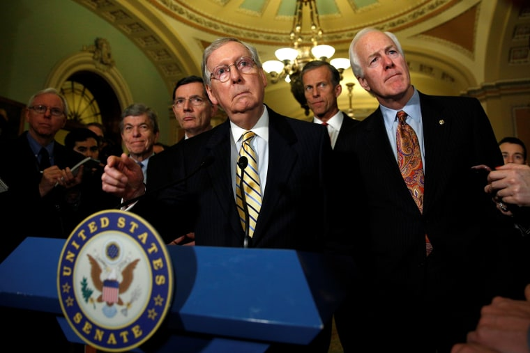 Senate Majority Leader Mitch McConnell speaks to reporters in the U.S. Capitol in Washington, May 17, 2016. (Photo by Kevin Lamarque/Reuters)
