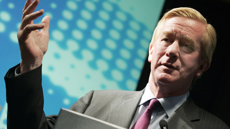 Former Mass. Gov. Bill Weld speaks at Reuters Newsmakers event in N.Y. on April 10, 2006. (Photo by Keith Bedford/Reuters)