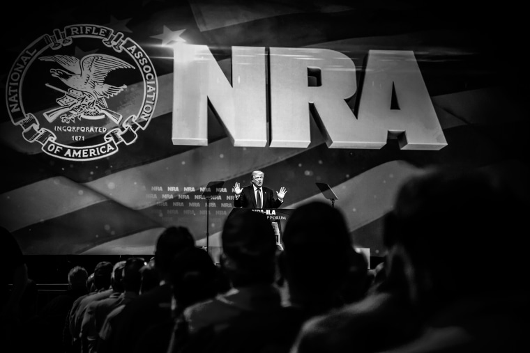 Republican Presidential candidate Donald Trump speaks at the NRA-ILA Leadership Forum on May 20, 2016 in Louisville, Ky. (Photo by Mark Peterson/Redux for MSNBC)