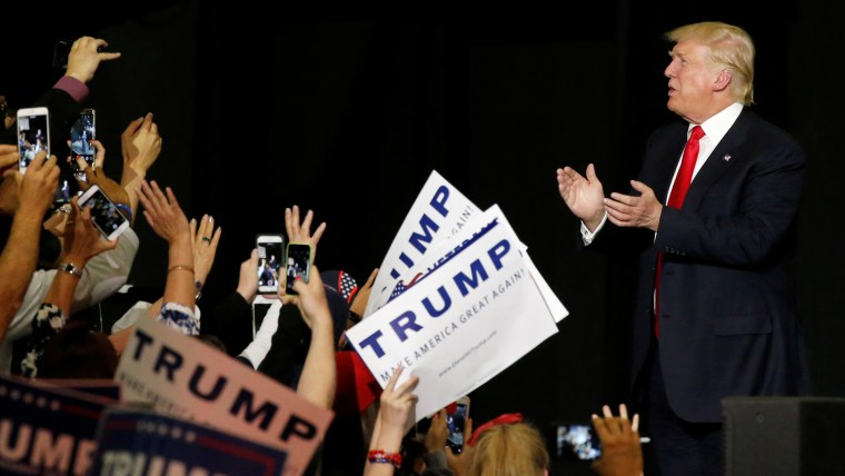Republican U.S. presidential candidate Donald Trump holds a rally with supporters in Albuquerque, New Mexico, U.S. May 24, 2016.