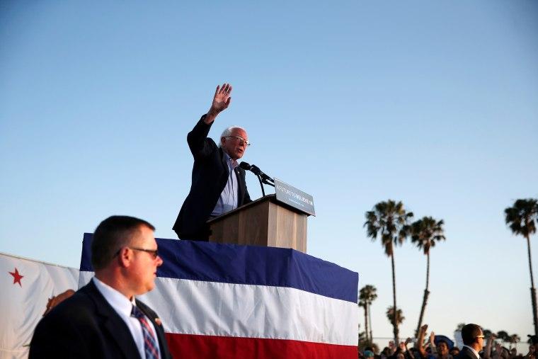 Democratic presidential candidate Bernie Sanders speaks in Santa Monica, Calif., U.S., May 23, 2016. (Photo by Lucy Nicholson/Reuters)