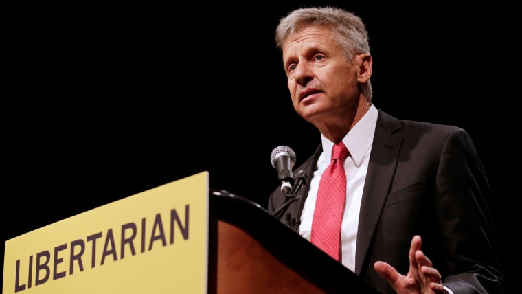 Libertarian Party presidential candidate Gary Johnson gives acceptance speech during National Convention held at the Rosen Centre in Orlando, Fla., May 29, 2016. (Photo by Kevin Kolczynski/Reuters)