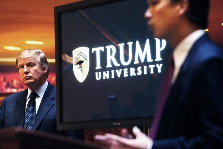 Donald Trump at a news conference in N.Y. where he announced the establishment of Trump University on May 23, 2005. (Photo by Bebeto Matthews/AP)