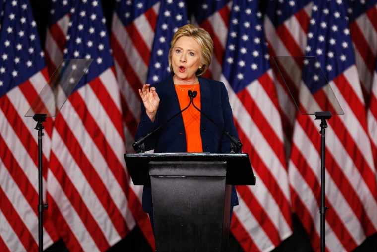 Democratic presidential candidate Hillary Clinton delivers a speech on national security in San Diego, Calif., June 2, 2016. (Photo by Mike Blake/Reuters)