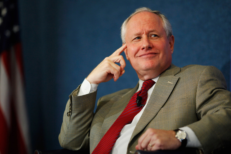 "The Weekly Standard Editor William Kristol leads a discussion on Peter Thiel's National Review article, ""The End of the Future,"" at the National Press Club Oct. 3, 2011 in Washington, DC. (Photo by Chip Somodevilla/Getty)"