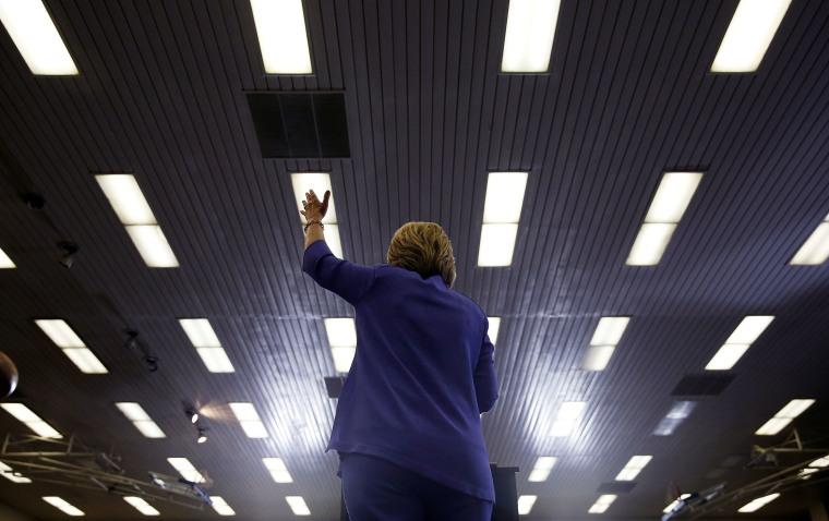 Democratic presidential candidate Hillary Clinton speaks at a rally at California State University, San Bernardino, June 3, 2016, in San Bernardino, Calif. (Photo by John Locher/AP)