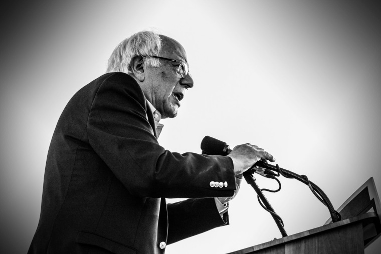 Bernie Sanders holds a rally in San Diego, Calif., June 5, 2015. (Photo by Mark Peterson/Redux for MSNBC)