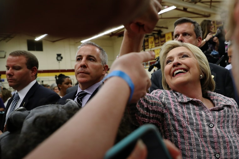 Democratic presidential candidate, former Secretary of State Hillary Clinton greets supporters during a campaign rally at Sacramento City College on June 5, 2016 in Sacramento, Calif. (Photo by Justin Sullivan/Getty)