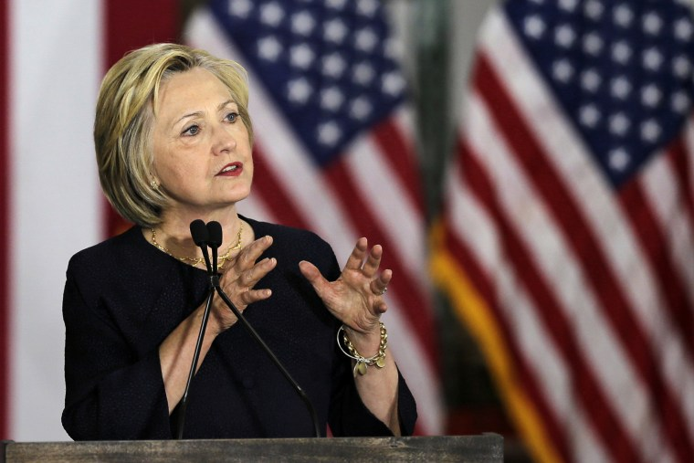 Democratic presidential candidate Hillary Clinton speaks at the Cleveland Industrial Innovation Center, June 13, 2016, in Cleveland. (Photo by Tony Dejak/AP)