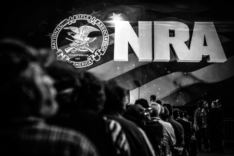 The NRA-ILA Leadership Forum in Louisville, Ky. on May 20, 2016. (Photo by Mark Peterson/Redux for MSNBC)