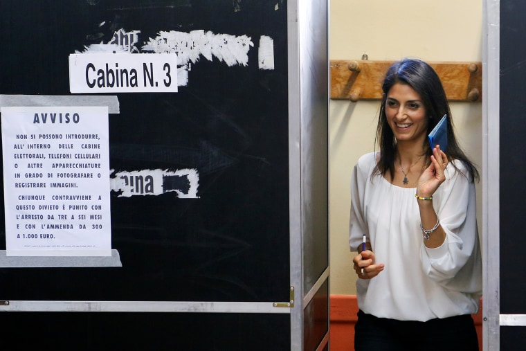 Virginia Raggi, 5-Star Movement candidate for Rome's mayor, casts her vote at the polling station in Rome, Italy, June 19, 2016. (Photo by Remo Casilli/Reuters)