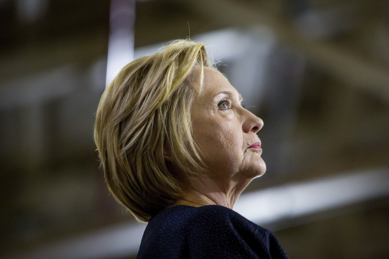 Hillary Clinton, the presumptive Democratic presidential nominee, speaks during a campaign event at Team Wendy in the Cleveland Industrial Innovation Center in Cleveland, June 13, 2016. (Photo by Eric Thayer/The New York Times)