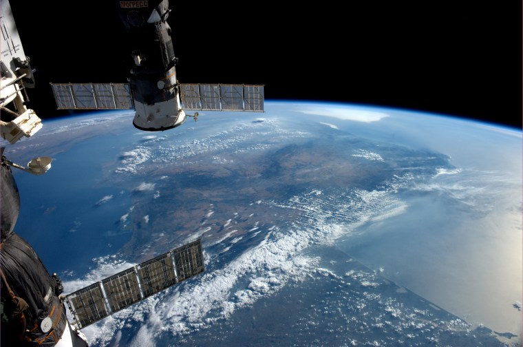 A view from the International Space Station of Earth taken by ESA astronaut Alexander Gerst during his six-month Blue Dot mission.