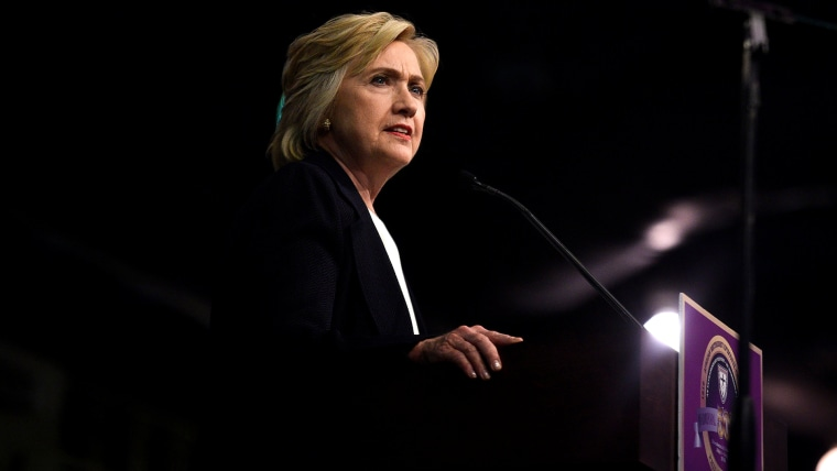 Democratic presidential candidate Hillary Clinton speaks to the General Conference of the African Methodist Episcopal Church at the Pennsylvania Convention Center in Philadelphia, Penn., July 8, 2016. (Photo by Charles Mostoller/Reuters)