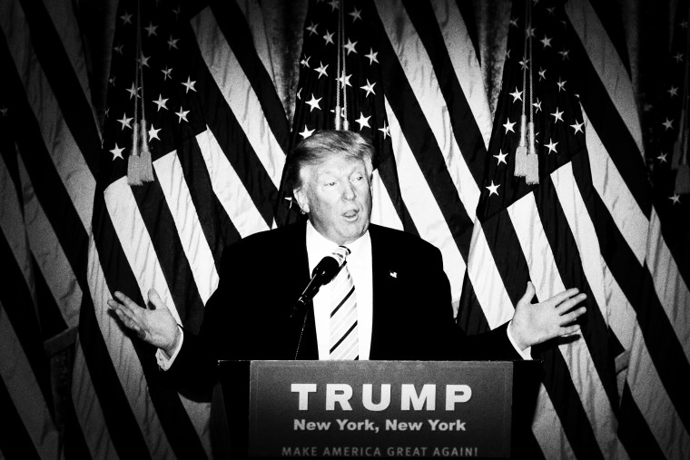 Donald Trump holds a press conference with his VP Choice, Gov. Mike Pence, July 16, 2016. (Photo by Mark Peterson/Redux for MSNBC)