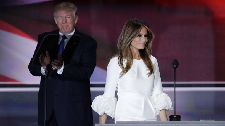 Melania Trump, wife of Republican Presidential Candidate Donald Trump, walks to the podium at the Republican National Convention in Cleveland, July 18, 2016. (Photo by J. Scott Applewhite/AP)